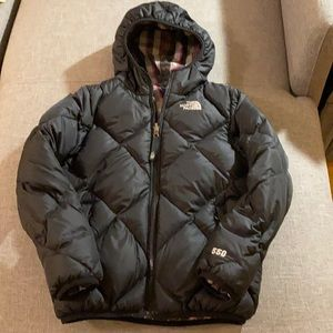 The North Face Girls reversible down jacket